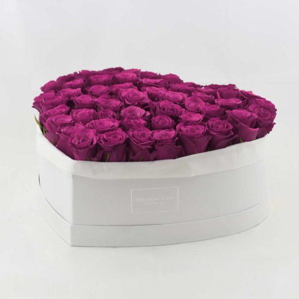 Dream of You - scatola bianca rose berry a incasso verticale