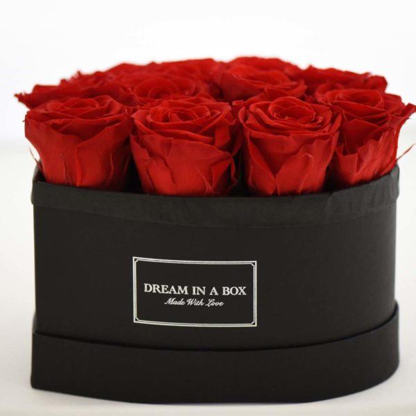 Dream a Little Dream - Scatola con rose rosse a forma di cuore