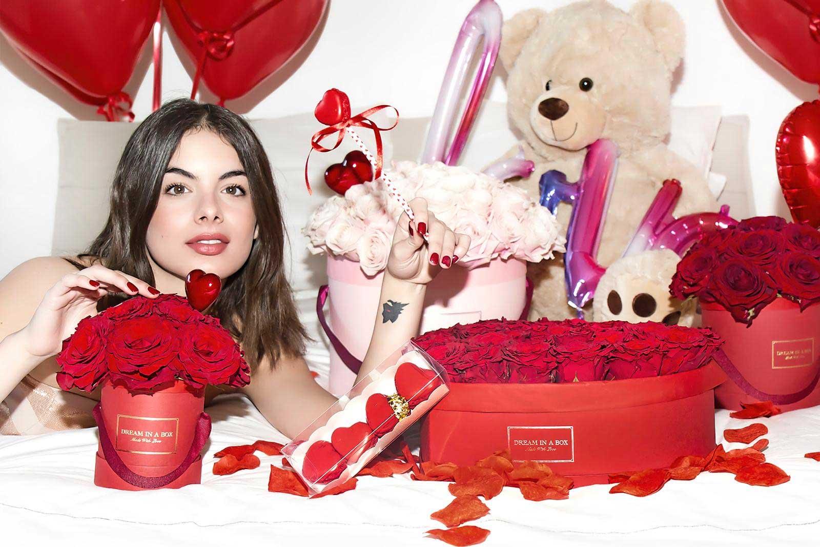 Rose in Scatola pr San Valentino